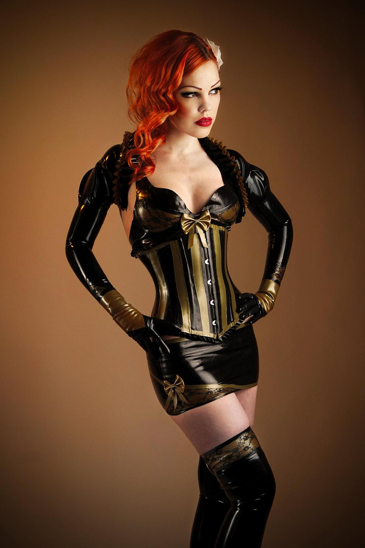 A latex corset and nothing else 6